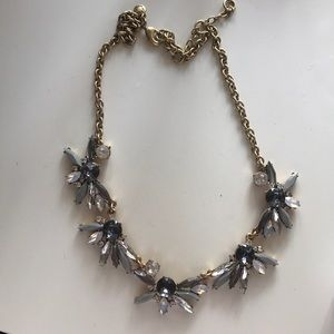 J.CREW Grey and Gold Statement Necklace
